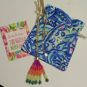 Lilly Pulitzer NWOT Multicolored  Tassel Necklace